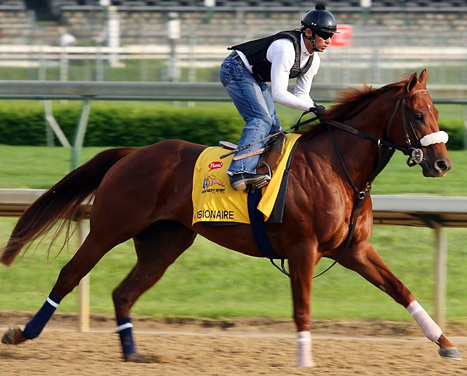 Post Position: 8<br>Trainer: Michael Matz<br>Jockey: Jose Lezcano<br>After a year's absence, Matz, who trained the late Barbaro, is back in Louisville with an inscrutable three-year-old. His biggest victory came in the March 8 Gotham Stakes in New York, where the Aqueduct oval was so shrouded in fog that nobody saw his performance. He was fifth in the bizarre Blue Grass Stakes, but at least he was closing at the end. Is he fast enough? Anybody's guess.
