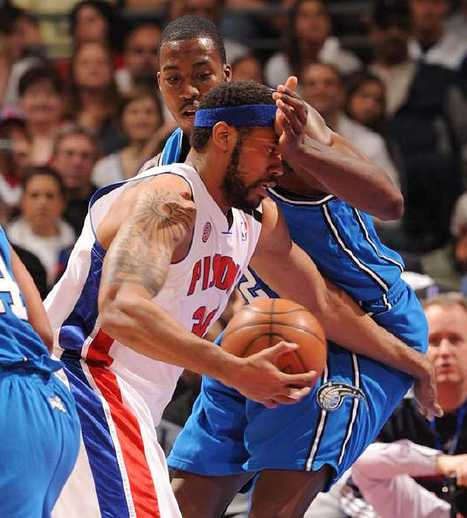 """You can't rattle us. We ain't no punks,"" said Rasheed Wallace after scoring points, grabbing five rebounds and getting hit with a technical in Game 1."