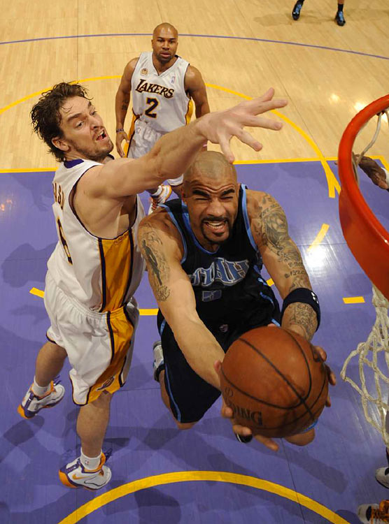 Carlos Boozer got past Pau Gasol and the Lakers to score 14 points during the Game 1 loss.