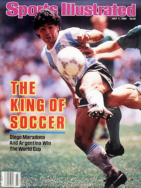 "Diego Maradona's infamous ""Hand of God"" goal at the '86 World Cup has become the most celebrated blown call in soccer history. The Argentine star beat England goalkeeper Peter Shilton to a high ball and struck the ball with his hand in the quarterfinals of the Cup. Argentina went on to win 2-1. ""I was waiting for my teammates to embrace me and no one came,"" said Maradona. ""I told them, 'Come hug me or the referee isn't going to allow it.""'"
