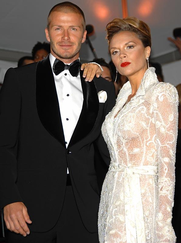 David and Victoria Beckham...
