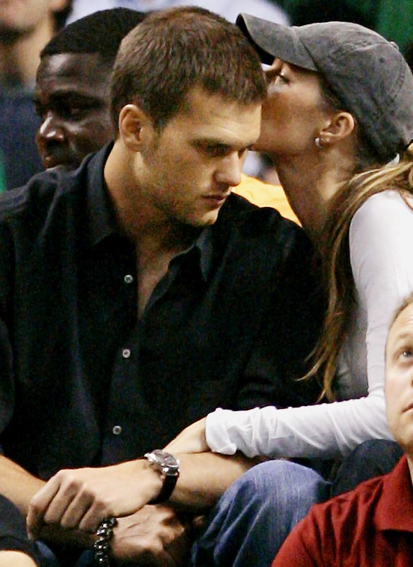 Gisele Bundchen didn't look that interested in the Celtics game against the Pistons on Thursday.