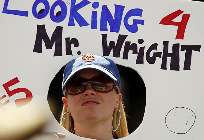 The Mets woes haven't stopped this fan from showing her loyalty to the team's third baseman.