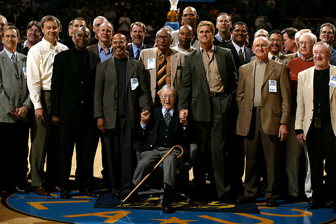 In December of 2003, UCLA honored Coach Wooden and his late wife Nell by naming the court in Pauley Pavilion Nell and John Wooden Court.  The two were married for 53 years before Nell passed away in 1985.