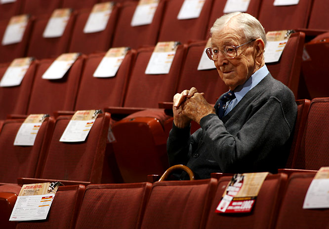 Even right before his death, Wooden often liked to watch UCLA home games.  In 2007, UCLA had to politely ask fans not to approach him for fear that he could never say no to autograph seekers