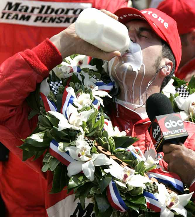 Sam Hornish Jr. overcomes a disastrous mistake in the pits and a pair of Andrettis (Marco and Michael) to win the second-closest Indianapolis 500 by 0.0635 seconds.