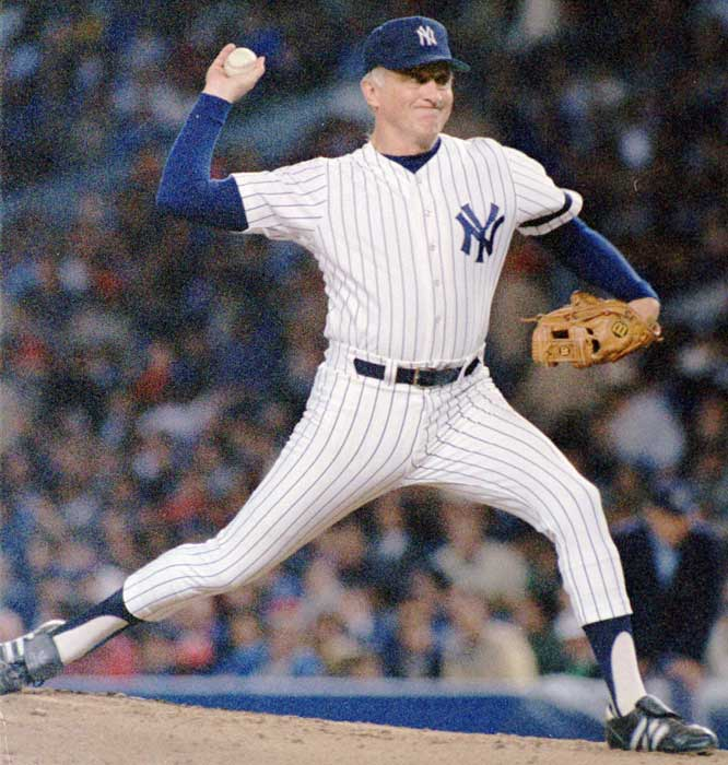 New York Yankee Phil Niekro joins Cy Young and Don Sutton as the only pitchers in MLB history to make 700 career starts.