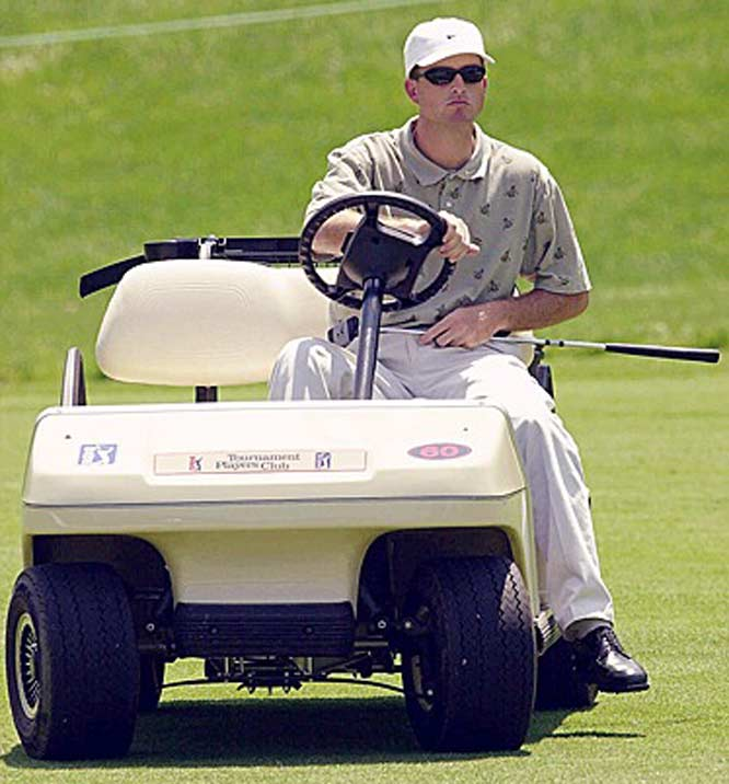 The Supreme Court rules that disabled golfer Casey Martin can use a cart to ride in tournaments.