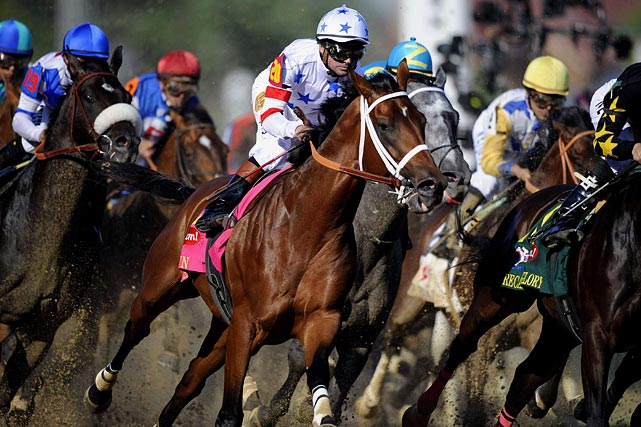 Big Brown lived up to all the pre-race hype when he crushed the field with an impressive 4 3/4 length victory at the Kentucky Derby in 2008. He went on to win the second leg of the Triple Crown by 5 1/4 lengths at the Preakness, but then became the first Triple Crown hopeful to finish last (ninth) in the Belmont Stakes.