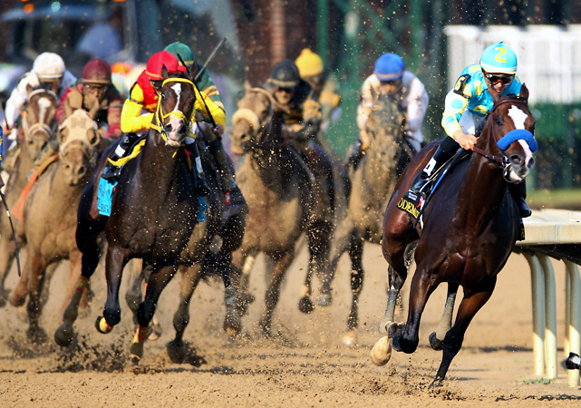 Bodemeister (right), trained by three-time Derby winner Bob Baffert, set a blistering pace on a muggy, 85-degree afternoon at Churchill Downs. The 4-1 favorite appeared poised to pull off a wire-to-wire win, but the fast fractions caught up to him down the stretch as I'll Have Another ran him down to win by 1 1/2 lengths. Here's a look at how other Kentucky Derby favorites fared in the famed mile-and-a-quarter race at Churchill Downs.