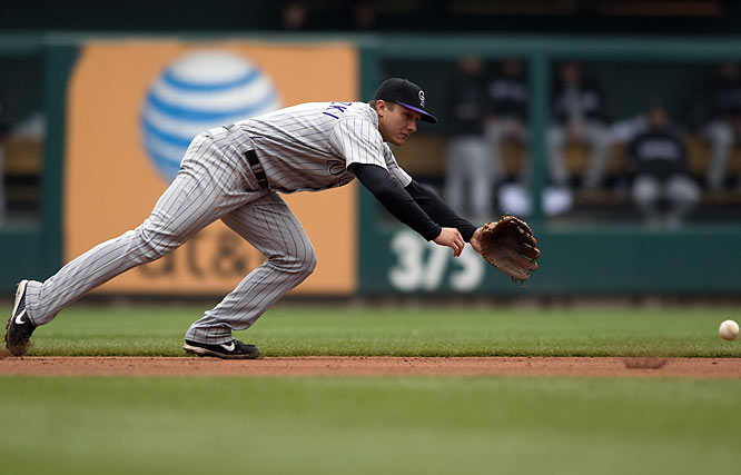 The momentum during the Rockies improbable run at the World Series apparently has not carried over into this season for Tulowitzki. He is well below the Mendoza line, hitting just .152, down from .291 last year.