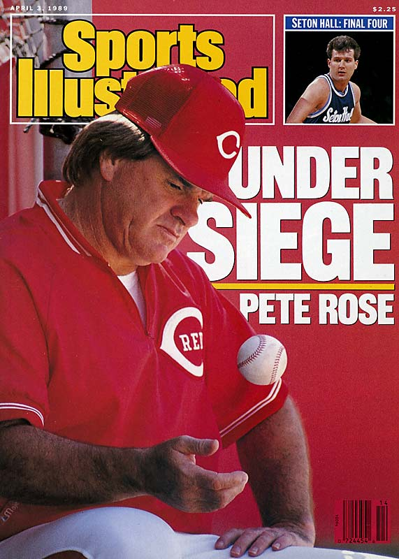 Baseball's all-time hits leader was permanently banned in 1989 after an investigation revealed that he'd bet on baseball while managing the Cincinnati Reds. ''Despite what the commissioner said today, I didn't bet on baseball,'' Rose insisted, admitting that he only wagered on other sports. ''I made some mistakes and I'm being punished for mistakes.'' More mistakes and punishment followed, as Rose was jailed in 1990 for tax evasion. It wasn't until 2004 that he owned up to his baseball bets -- while peddling his book My Prison Without Bars.