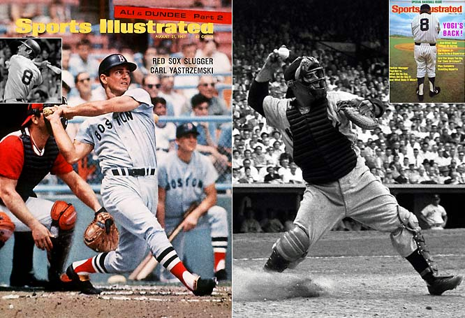 You must be kidding. Cal Ripken ahead of Carl Yastrzemski at No. 8?  Ripken's consecutive game streak is a great testament to his will, passion and commitment, but not to his talent. Yaz had arguably the greatest single season in the history of the game in 1967.<br>-<i>Voice of Reason</i><br><br>Check Yog's stats vs Ripken's. No doubt Yogi is the No.  8, not to mention Bill Dickey over Ripken.<br>-<i>Jersey Cardinal Fan</i>