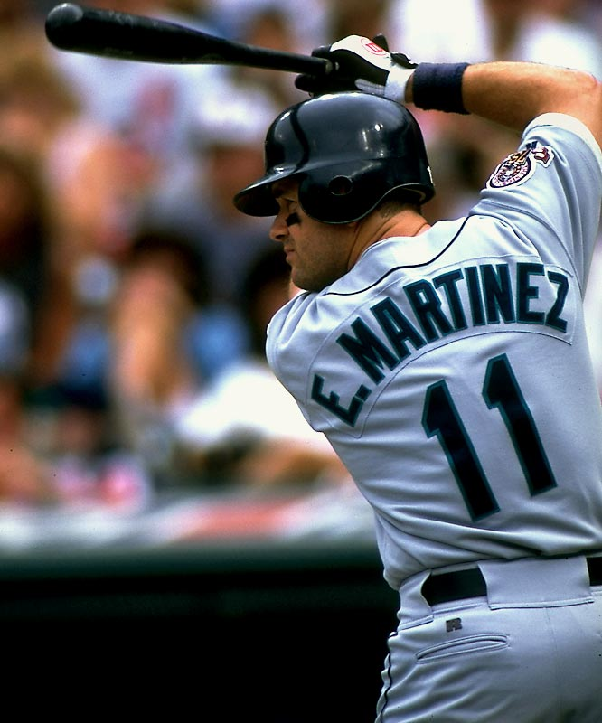 I'm amazed to see Edgar Martinez doesn't even receive a mention at No. 11. Good grief, the DH award is named after him! Glad to see memories are short in New York, or do you remember the destruction job he singlehandedly gave to your beloved Yankees in the 1995 playoffs? Next time, look in the upper left-hand corner on your USA map. We've had some ballplayers here, too.<br>-<i>The DePolo Line</i>