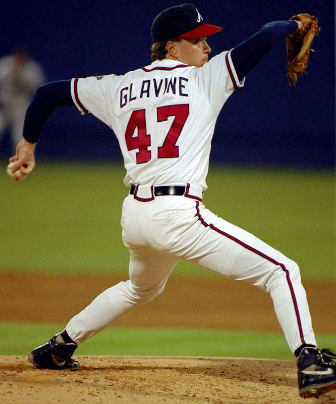 Tom Glavine should be the guy for No. 47. Three-hundred wins. Two Cy Youngs and the '95 World Series MVP. Fourth-winningest lefty of all time.<br>-<i>Mark Lyle</i>