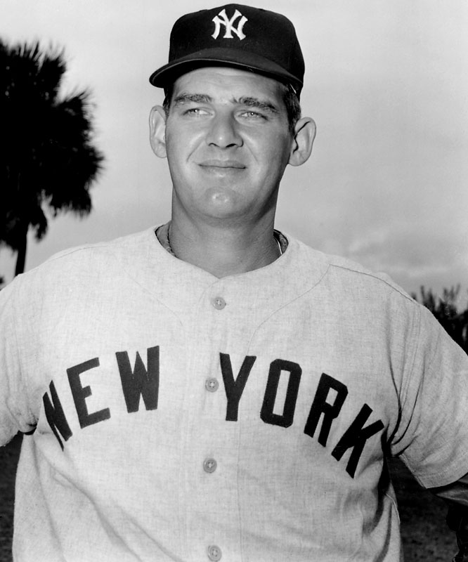Best known for his perfect game in the 1956 World Series, Larsen also carved out a reputation as a good hitting pitcher. The righty hit .306 with four HR and 13 RBI during the 1958 season, finishing his career with a .242 average and 14 homers.
