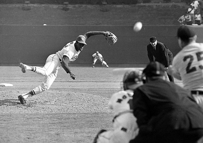 Of all of baseball's untouchable records, few are as set in stone as Bob Gibson's mark for lowest ERA in the  modern era: 1.12. Gibson, the easy choice for NL Cy Young that season, won 22 games and notched 13 shutouts, then added a World Series-record 17 more in Game 1 of the Cardinals eventual seven-game Series loss to the Tigers.