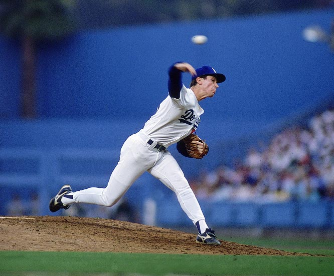 For most of the 1988 season, Orel Hershiser was merely very good. When he took the mound on Aug. 30, he was 17-8 with a 2.88 ERA. But beginning with a shutout of the Expos that day, Hershiser's season went from very good to historic. By the time it was over, he had pitched a record 59 consecutive scoreless innings, including five straight shutouts. He finished 23-8 and steamrolled through the playoffs by winning all five of his starts and even notching a key save, leading the Dodgers to the World Series title.