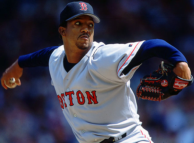 Pedro Martinez's power pitching style was on full display during the 2000 season in which he won 18 games, posted a 1.74 ERA, hurled seven complete games, and whiffed 284 hitters. He also set a number of marks. His WHIP was 0.74, breaking a 77-year-old record set by Walter Johnson, and he also became the only starting pitcher to have more than twice as many strikeouts in a season (284) as hits allowed (128). The only question: How did he lose six times?