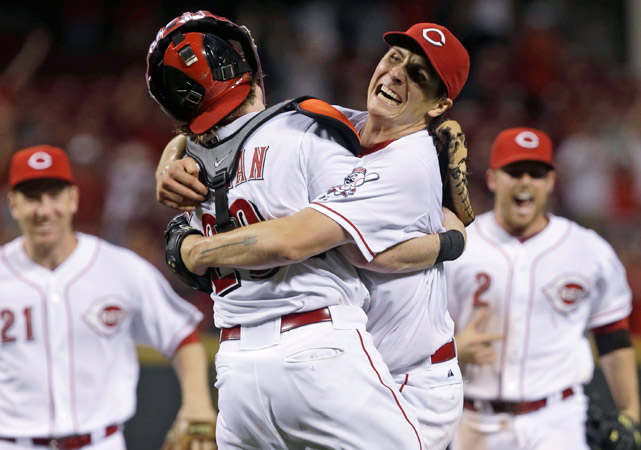 Homer Bailey pitched his second no-hitter in 10 months, becoming the first player in baseball to throw MLB's two most recent no-no's since Nolan Ryan in 1974-75. Bailey allowed just one walk and struck out nine against the Giants in a 3-0 win, surrendering his perfect game in the in the 7th inning when he walked Gregor Blanco. Bailey would later get Blanco to ground out in the 9th to end the game, becoming the third pitcher in Reds history to throw multiple no-hitters.