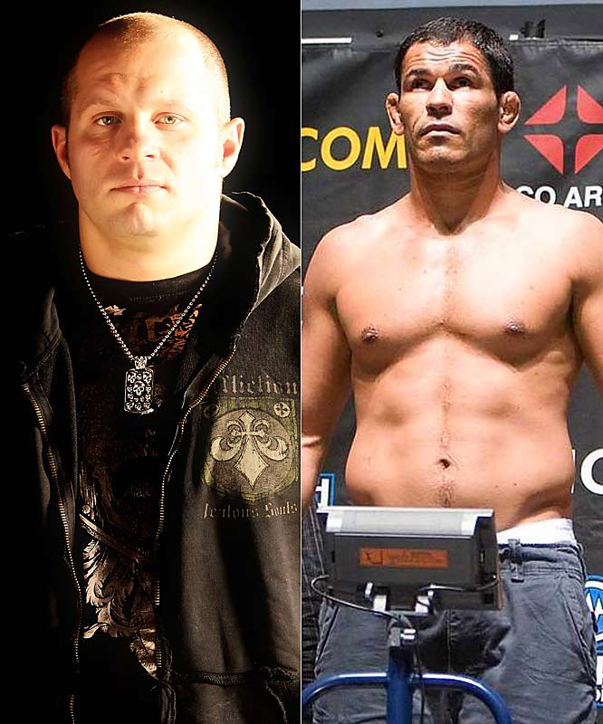 It was against Nogueira that Emelianenko won the PRIDE Heavyweight Grand Prix title. Since Minotauro's 2004 loss, some have said that he would have been the best heavyweight in the world had it not been for Emelianenko. Not the makings of a friendship, that's for sure.