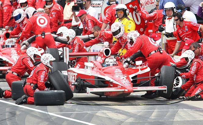 Scott Dixon's crew did a good job on pit stops and he did the rest, leading seven times for 115 laps in the 200-lap race.