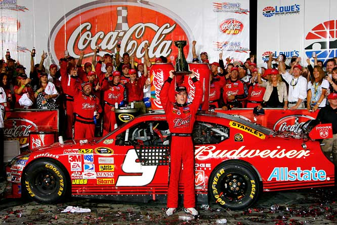 Kasey Kahne had an uneventful season in 2007, finishing 19th in the standings without winning a race and finishing in the top-five just once. With just a third of the current season complete, Kahne is 12th in the points and swept both the Sprint All-Star Race and the Coca-Cola 600 in Charlotte.