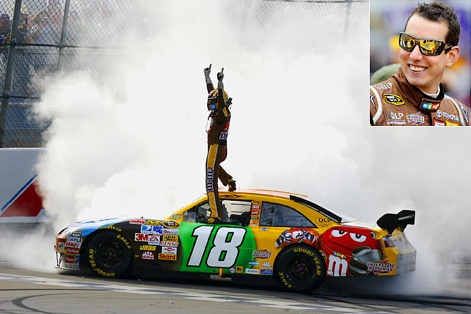 Kyle Busch is an emotional 23-year-old racing in his first season with a team that switched manufacturers during the winter. But Busch has won three of the first 12 Cup races, piling up eight top-five finishes on his way to the points lead. He's also won four Nationwide races and two Craftsman events, dominating on every circuit.