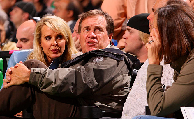 "New England Patriots head coach Bill Belichick attended Game 1. He received a rousing ovation and a chant of ""Bel-i-chick!"" every time he was shown on the big screen."