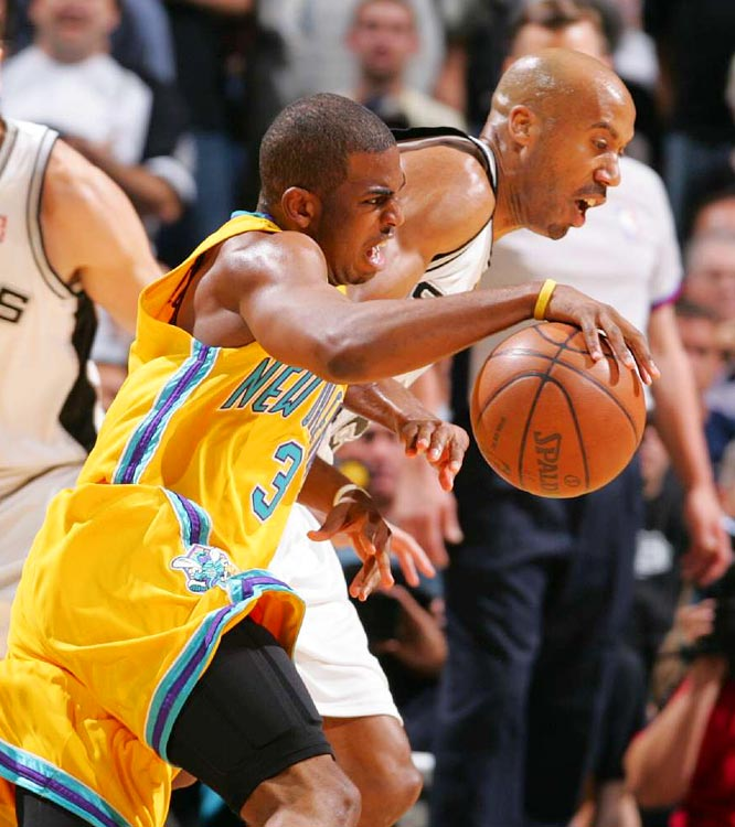 Chris Paul had 35 points and nine assists, but was hounded by Bruce Bowen in the Spurs' 110-99 Game 3 win.