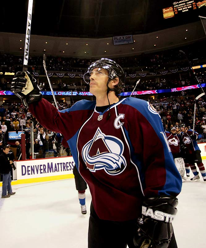 By the end of the series, speculation was high that future Hall of Famer Joe Sakic would retire after 19 seasons with the franchise. Sakic had four assists in the series.