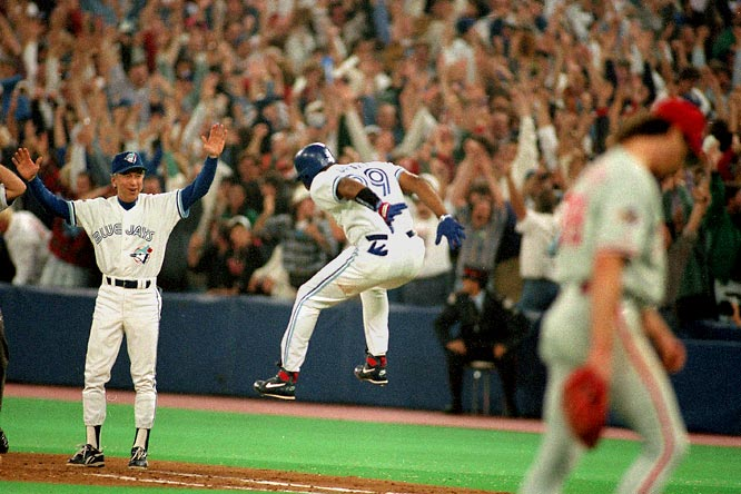 Joe Carter's game-winning homer off Mitch Williams in the bottom of the ninth was just the second walk-off homer to win a World Series after Bill Mazeroski's blast in 1960.