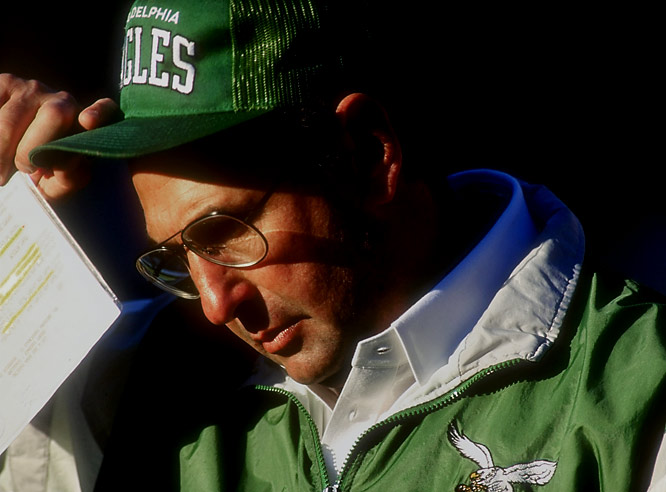 After finding the end zone in the fourth quarter to pull within 24-13 in Dallas, Rich Kotite called for a two-point conversion instead of kicking the extra point to pull within a touchdown and a field goal. The conversion failed and the Eagles lost. During postgame interviews, Kotite blamed the mental blunder on his rain-soaked chart.