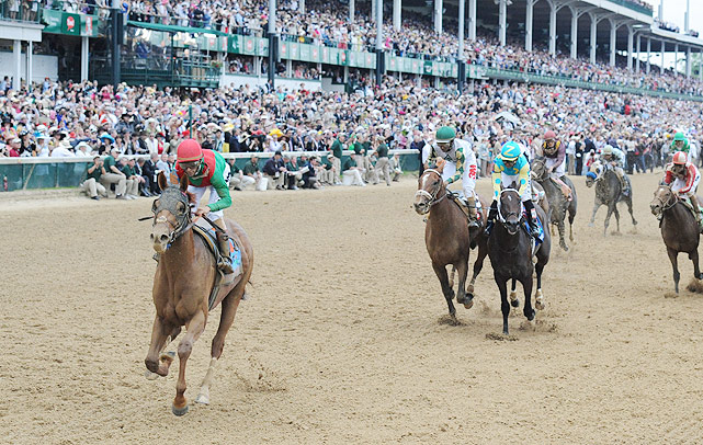 After winning the Kentucky Derby, Animal Kingdom entered the Preakness as the early 2-1 favorite. He closed fast at the finish but placed second to Shackleford.