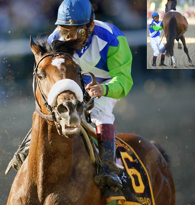 After a win in the Kentucky Derby, Barbaro was a 1-to-2 favorite to win the Preakness.  He finished ninth and suffered a career-ending and eventually life-ending injury on the track.