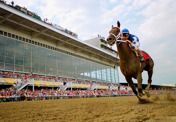The closest to a Triple Crown winner since Spectacular Bid in 1979, Kentucky Derby winner Smarty Jones won the Preakness too.  With odds in his favor to win the Belmont, Smarty lost to a 36-to-1 longshot.