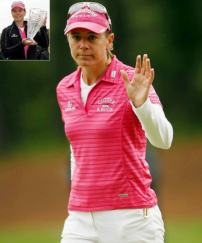 The 38-year-old Swede, who has won 10 majors, 72 Tour events and over $22 million overall, announced earlier this year that she would step away from the LPGA Tour at season's end.