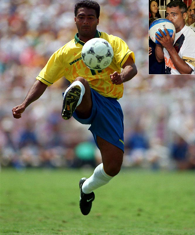One of the world's most prolific strikers, the 42-year-old Brazilian center forward announced his retirement in April. Romario helped Brazil win the 1994 World Cup, the same season in which he was named FIFA Player of the Year.