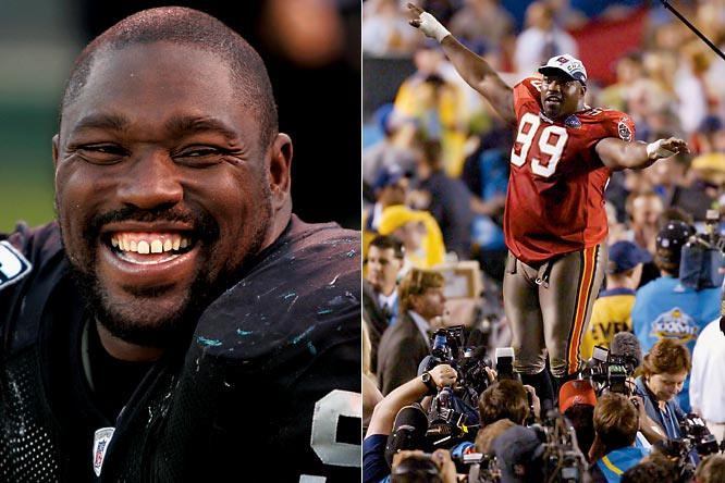 Warren Sapp had one of the most prolific careers for a defensive tackle. The seven-time Pro Bowler amassed a career total of 96.5 sacks during his 13 years in the NFL and was the centerpiece of the stingy Tampa Bay defense that won Super Bowl XXXVII.