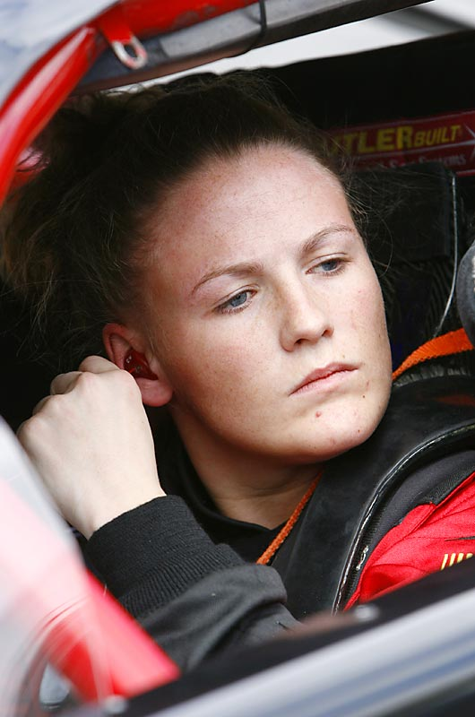 A member of the famed Wallace racing family, Chrissy was the first female to win a Late Model Race at Hickory Motor Speedway, that milestone cane in June 2007, the same year she won rookie of the year honors at the speedway.