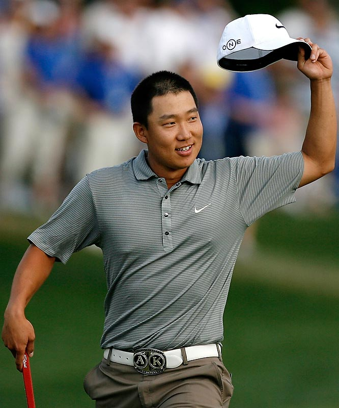 Anthony Kim took the Wachovia Championship, becoming the youngest player to win on the PGA Tour in six years. The 22-year-old posted a 3-under 69 on Sunday for a five-shot win over Ben Curtis.