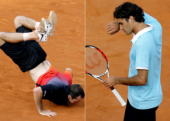 Roger Federer's disappointing year continued as he lost to Radek Stepanek at the Rome Masters.