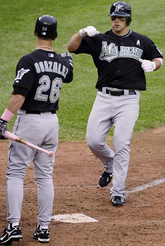 Florida's baseball teams are making a name for themselves this season. Along with the Rays' surprising success, the Marlins owned the best record in baseball after defeating the defending champion Red Sox 5-4 on Sunday behind Dan Uggla's two homers.