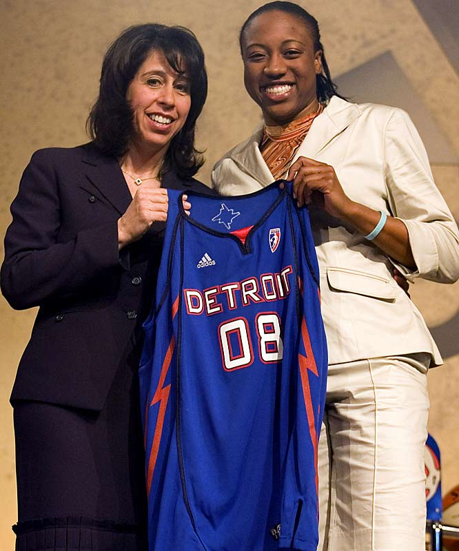 College Team:  Tennessee Lady Vols<br>College Stats:  9.9 ppg, 3.6 apg, 5.5 rpg<br>WNBA:  Fourth overall pick