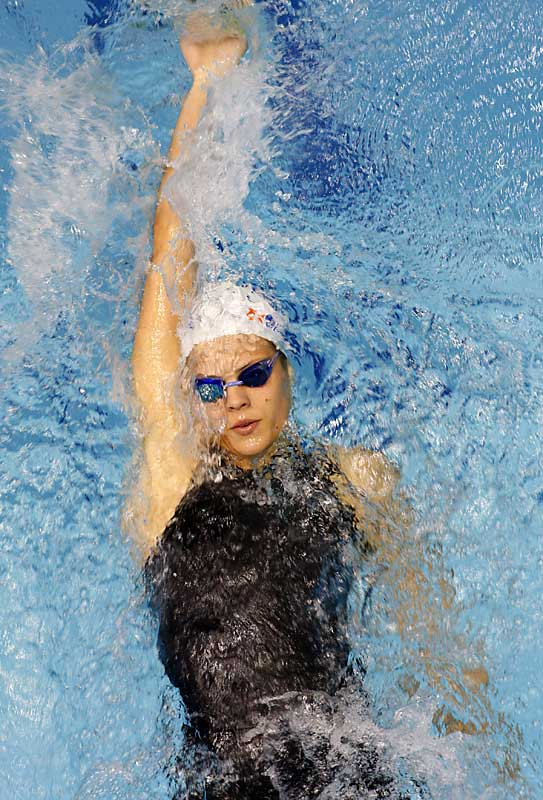The 21-year-old had an easy time gliding through the water at the world championships in August, winning five medals, including golds in the 200 and 400 free. Manaudou holds world freestyle records for the 200 and 400.