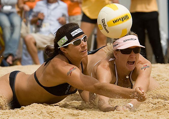 Arguably the best women's beach team ever, the 30-year-old May-Treanor (left) and Walsh, 29, have combined to win nearly 100 titles. Their 89-match winning streak in both national and international play in 2003-04 is a beach-volleyball record. They won 13-of-15 AVP events they competed in and seven-of-eight FIVB titles in 2007.