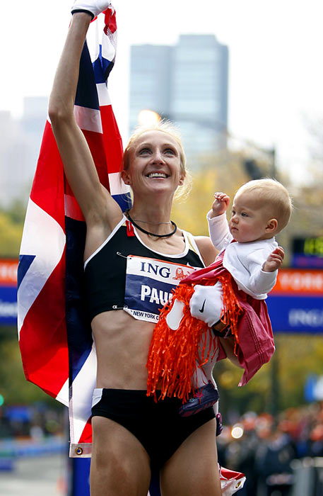 Less than 10 months after giving birth to her first child, daughter Isla, and overcoming a stress fracture in her lower back, the 33-year-old dropped a 4:59 mile two that left the pack strewn behind her in the streets of Brooklyn at the New York City marathon. Radcliffe led the entire race (finishing in 2:23:09) and over the last half mile blew away her closest competitor, Gete Wami.