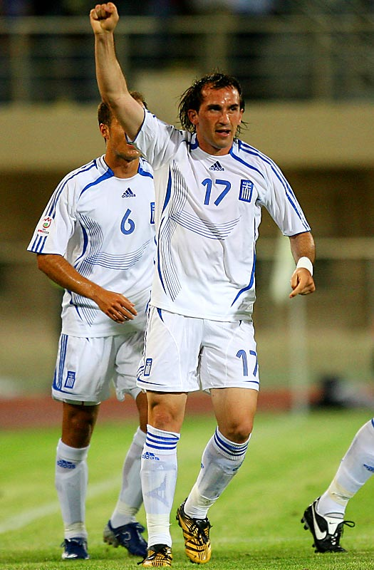 Four years after going from 80-to-1 long shots to unlikely Euro 2004 champions within a month, the Greeks embark on their title defense employing the same conservative, defend-and-counter approach. Gekas, the steady 28-year-old striker from Bayern Leverkusen, netted five of his team's 25 goals during qualification.