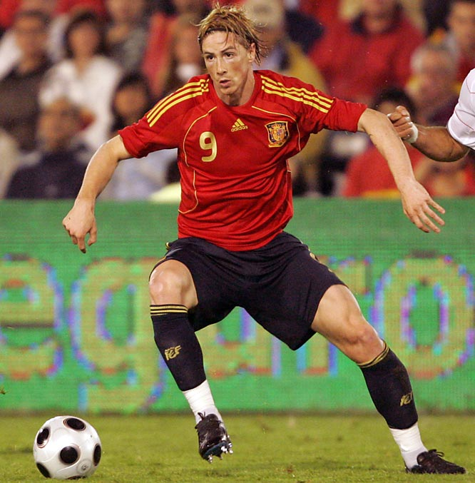Torres arrived at Liverpool last summer as the storied English club's record signing and immediately lived up to advance billing, scoring 24 of his 33 goals in Premiership games to break Ruud van Nistelrooy's record for most league goals by a foreign player in a debut season. Having established himself as one of the world's most fearsome predators up front, the slippery 23-year-old striker hopes to lead Spain to its first European Championship title since 1964.