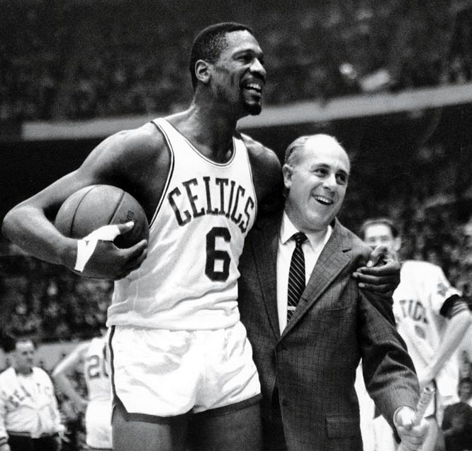 The greatest coach in NBA history, he led the Celtics to nine titles (tying him with Phil Jackson for the most ever), including an unprecedented eight in a row from 1959-66. He managed the game, yet trusted his players to manage themselves within it. He was a phenomenal showman, tactician, leader and developer of men with just the right amount of chutzpah thrown in for good measure.